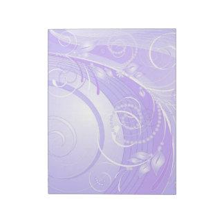 light violet winter notepad