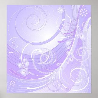 light violet winter posters