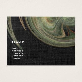 LIGHT VORTEX - orange grey white black yellow Business Card