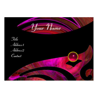LIGHT VORTEX RUBY red pink black purple yellow Business Card Templates