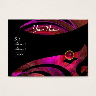 LIGHT VORTEX RUBY red pink black purple yellow Business Card