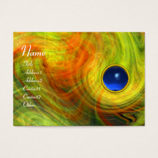 LIGHT VORTEX  SAPPHIRE  red yellow orange blue Business Card