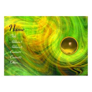LIGHT VORTEX  TOPAZ green yellow orange blue Business Cards