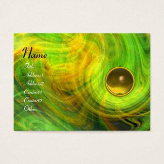 LIGHT VORTEX  TOPAZ green yellow orange blue Business Card