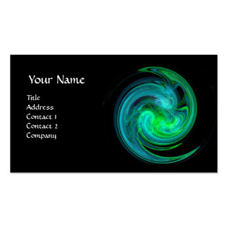 LIGHT VORTEX ,vibrant black green yellow blue Business Card Templates