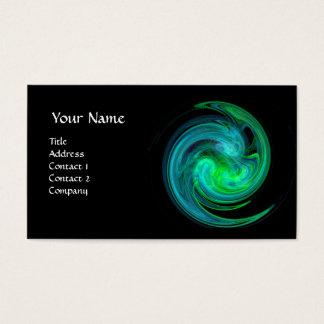 LIGHT VORTEX ,vibrant black green yellow blue Business Card