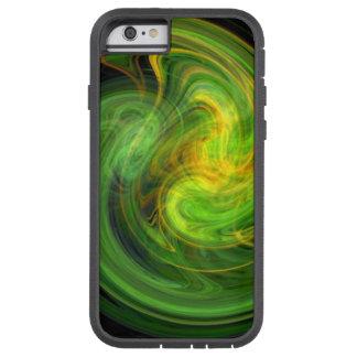 LIGHT VORTEX ,vibrant green Tough Xtreme iPhone 6 Case