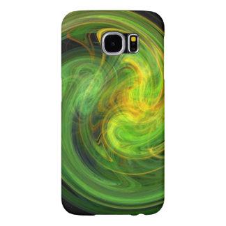 LIGHT VORTEX / Vibrant Yellow Green Abstract Samsung Galaxy S6 Cases