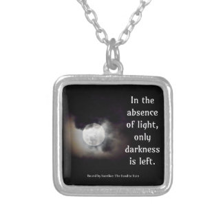 Light vs Dark quote Personalized Necklace