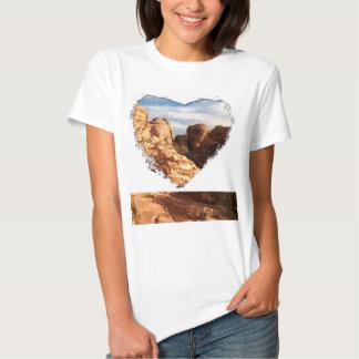 Light vs Shadow on Red Cliffs; Nevada Souvenir Shirt