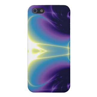 LIGHT WAVES,blue turquase purple Case For iPhone 5/5S