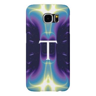 LIGHT WAVES MONOGRAM purple violet blue Samsung Galaxy S6 Cases