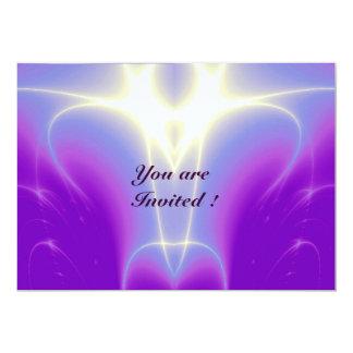 "LIGHT WAVES ,Pink,Purple,White 5"" X 7"" Invitation Card"