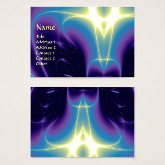 LIGHT WAVES, Violet,Purple,Blue,White Business Card