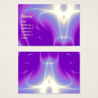LIGHT WAVES, Violet,Purple,White Business Card