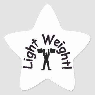 light weight products star sticker