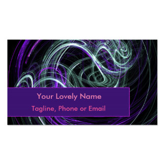 Light Within, Abstract Fractal Violet Indigo Swirl Pack Of Standard Business Cards