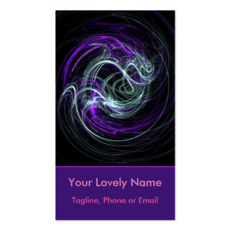 Light Within Abstract Fractal Violet Magenta Swirl Pack Of Standard Business Cards
