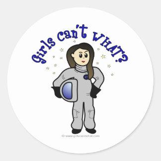 Light Woman Astronaut Classic Round Sticker