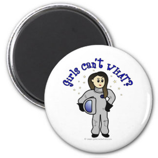 Light Woman Astronaut Fridge Magnet