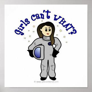 Light Woman Astronaut Poster