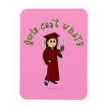 Light Woman Graduate in Red Gown Rectangular Magnets