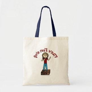 Light Woman on Soapbox Tote Bag