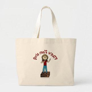 Light Woman on Soapbox Jumbo Tote Bag