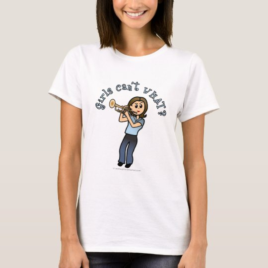 Light Woman Playing Trumpet T-Shirt