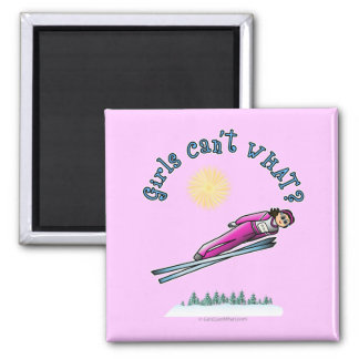 Light Women s Ski Jumping Refrigerator Magnets