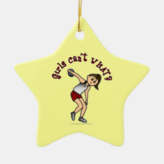 Light Womens Discus Christmas Ornament