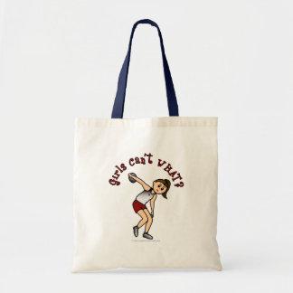 Light Womens Discus Budget Tote Bag