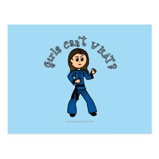 Light Womens Kung Fu Postcard