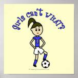 Light Womens Soccer in Blue Uniform Posters