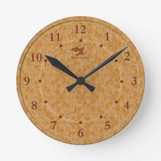 Light Wood Decorative 5-a Modern Wall Clock Sale