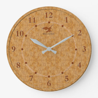 Light Wood Decorative 5-b Modern Wall Clock Sale