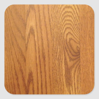 Light wood Grain Design Square Sticker