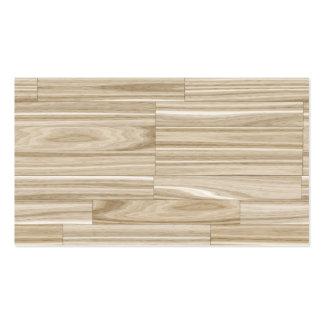 Light Wood Grain Parquet Business Card Templates