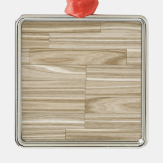Light Wood Grain Parquet Christmas Ornament