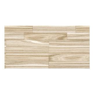 Light Wood Grain Parquet Picture Card