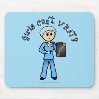 Light X-ray Technologist Girl Mouse Pad