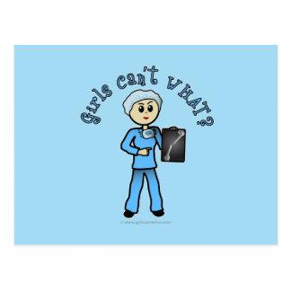 Light X-ray Technologist Girl Postcards