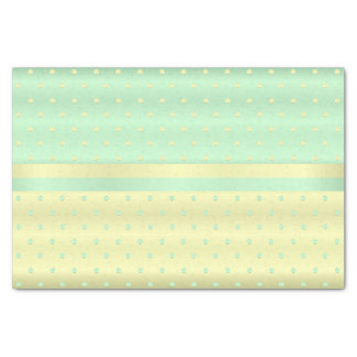 Light Yellow and Pastel Green Polka Dots Tissue Paper