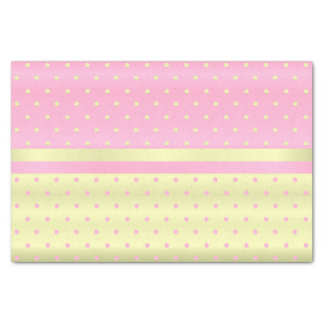 Light Yellow and Pastel Pink Polka Dots Tissue Paper