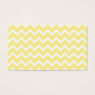 Light Yellow and White Zigzags. Business Card