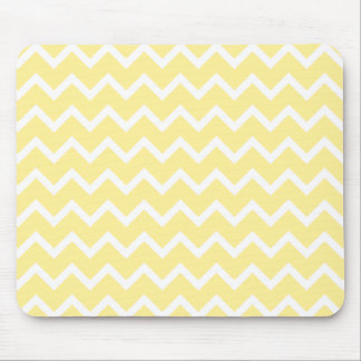 Light Yellow and White Zigzags. Mouse Mat