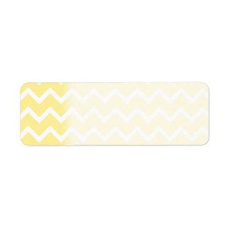 Light Yellow and White Zigzags. Return Address Label