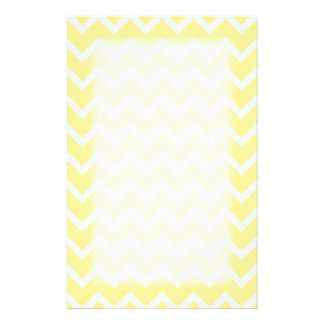 Light Yellow and White Zigzags. Stationery
