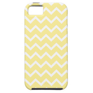 Light Yellow and White Zigzags. Tough iPhone 5 Case