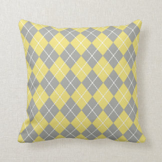Light Yellow Argyle  Pillow